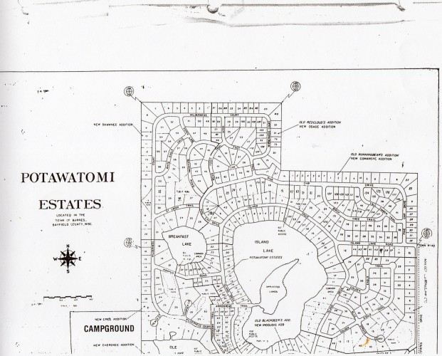 Potawatomi Estates Map