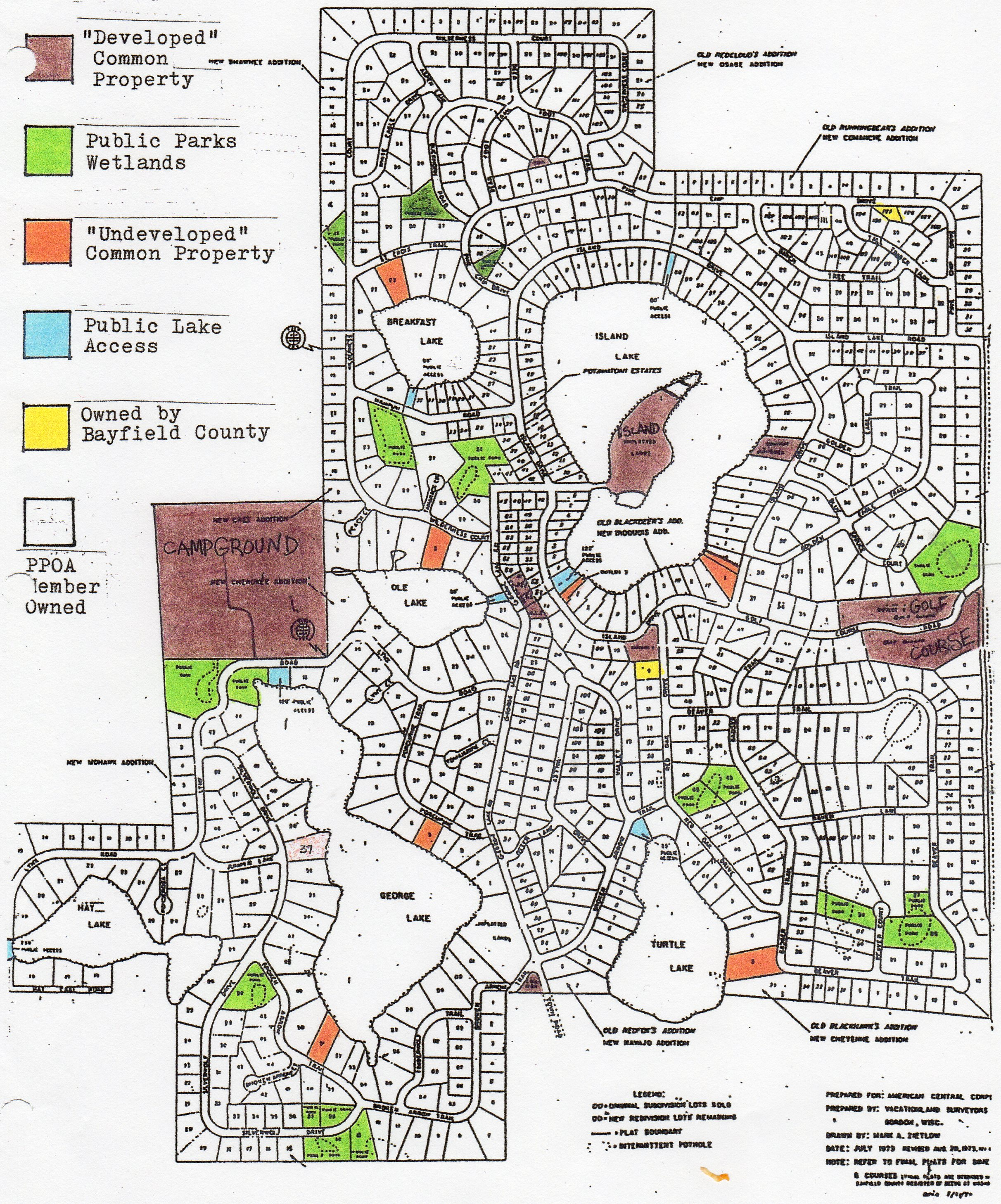 Potawatomi Estates Land Map