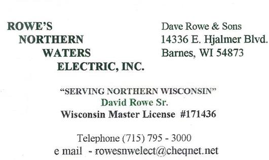 Rowe's Northern Waters Electric, Inc.