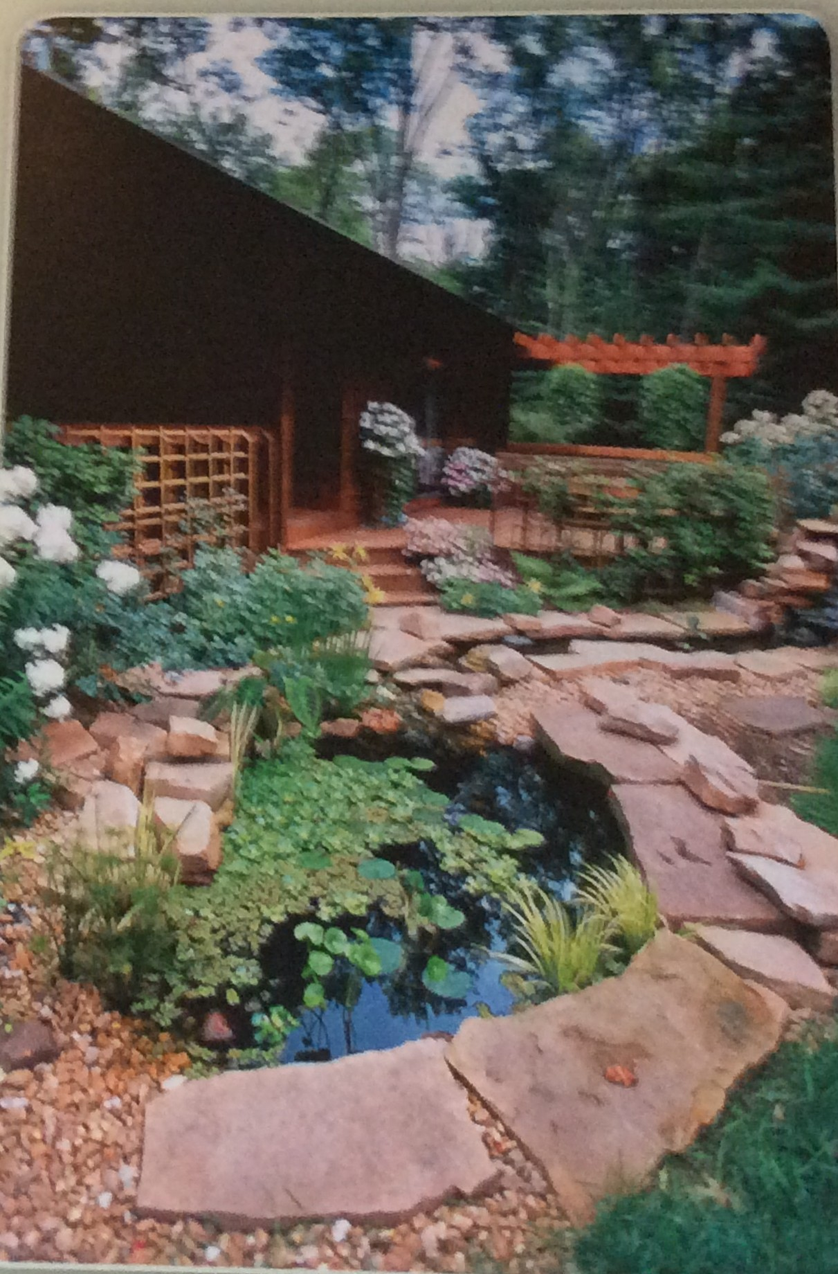 Fire protection landscaping